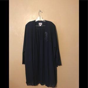 Dresses & Skirts - F.A.D. 2pc skirt set navy, size 3X.  Polyester